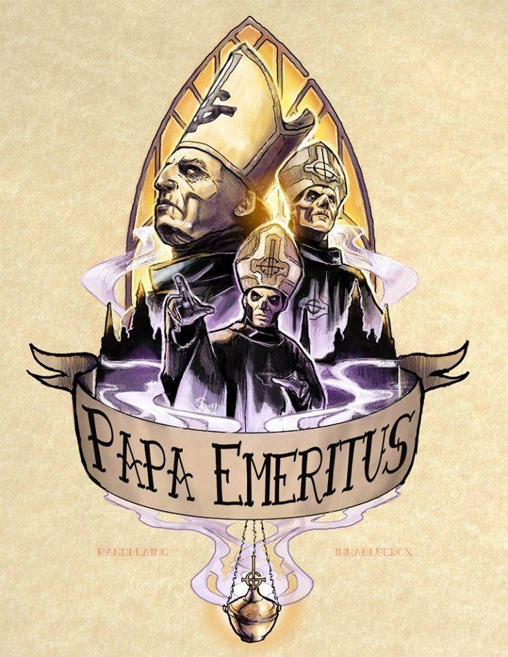 PAPA EMERITUS I / II / III Artist: Randi Laing The Nameless Ghouls Official Ghost Cult.