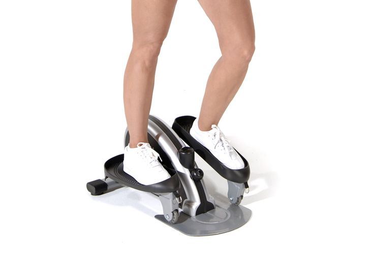 Compact Elliptical Trainer.  has great reviews. my 5th wheel fits my exercise bike, but if i ever simplify into a smaller trailer, guess i will hafta get one of these :)