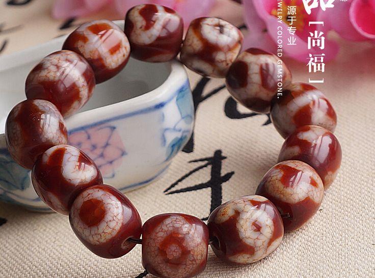 Consecration Tibet Good Luck Totem DZI Beads Wrist Malas Buddhist Prayer Beads Bracelet