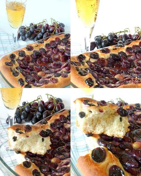 Итальянский постный пирог с виноградом