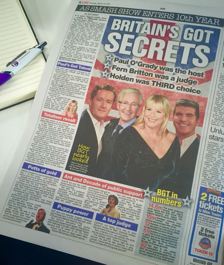 The story of how the show began in today's Sun newspaper...
