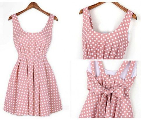 Polka Dot Dress. Spots and dotted dress made with pure cotton and polyester. Available in two colours: Black and Pink. Just $29.00 from #ikOala #shopping #deal.