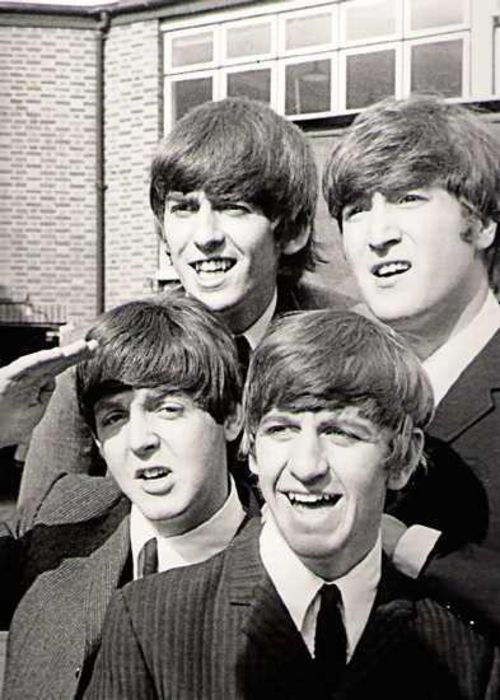The Beatles by Astrid Kirchherr-ahhhh, there's some history! Astrid was ___Sutcliff's girlfriend.