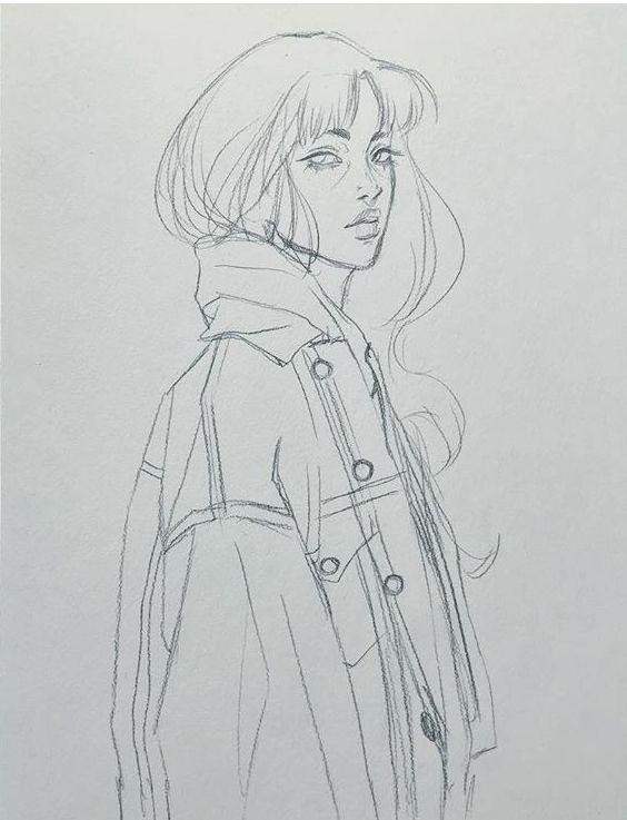 Zeichnung; Skizzieren; Strichmännchen; Bleistiftz…