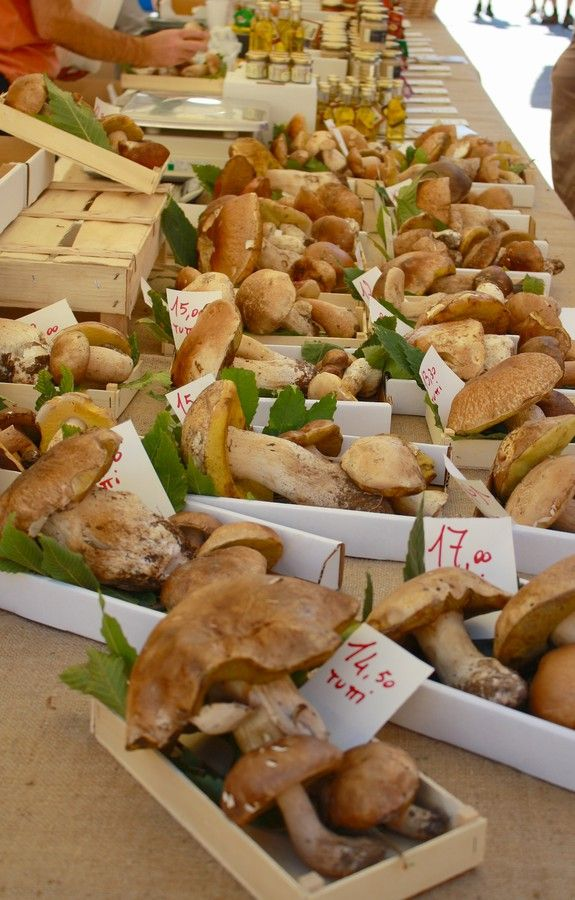 Mushrooms, fresh from the market, in In the old town of Nice --- Photo by Cannelle Callard