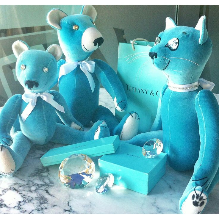 """Tiffany"" collection Baby and Adult Teddy Bears and Teddy Cat, by GSBears"