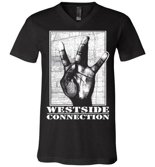 Westside Connection, Ice Cube , WC, Mack 10, West Coast Hip Hop, Gangsta Rap , Bow Down,Los Angeles, Canvas Unisex V-Neck T-Shirt