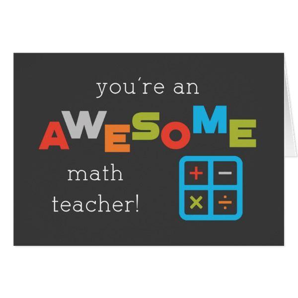 Math Teacher Appreciation Day Math Symbols Awesome Zazzle Com