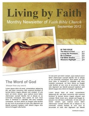 church newsletter article ideas