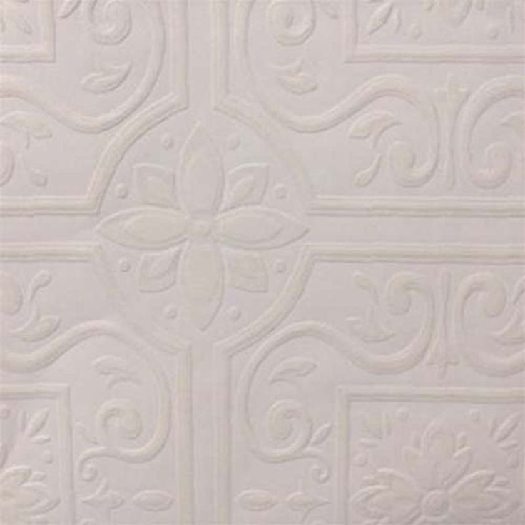 Paintable wallpaper embossed tile large heavy textured 148 59000