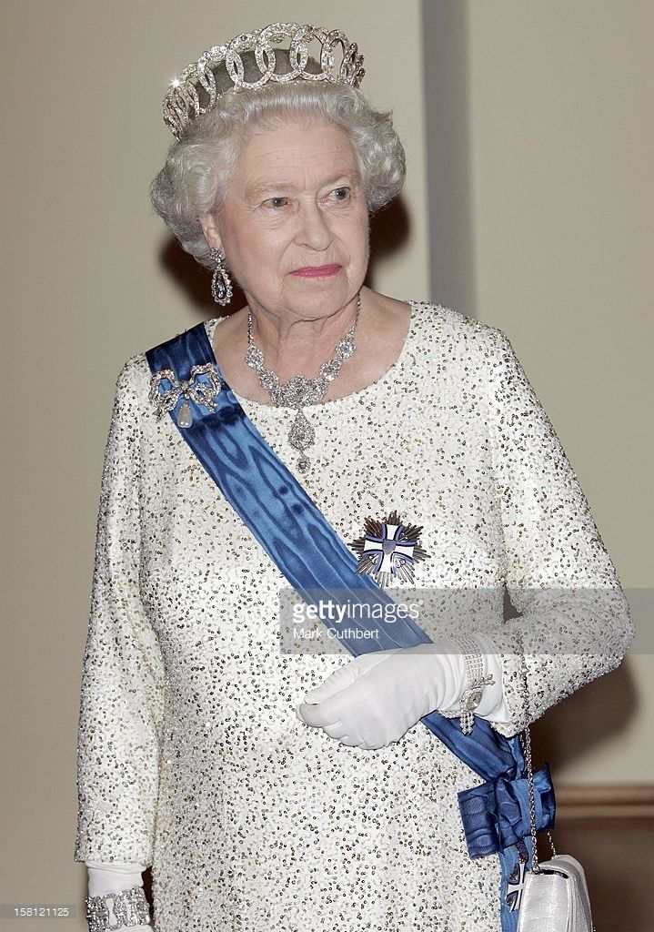 Queen Elizabeth Ii & The Duke Of Edinburgh Visit The Baltic States.State Banquet At The House Of The Brotherhood Of Blackheads In Tallinn, Estonia. .