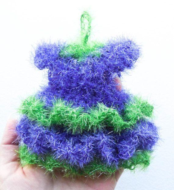 Kitchen Scrubbie Gown  Crochet Scrubby Dress  Eco by ArtistBeeBee