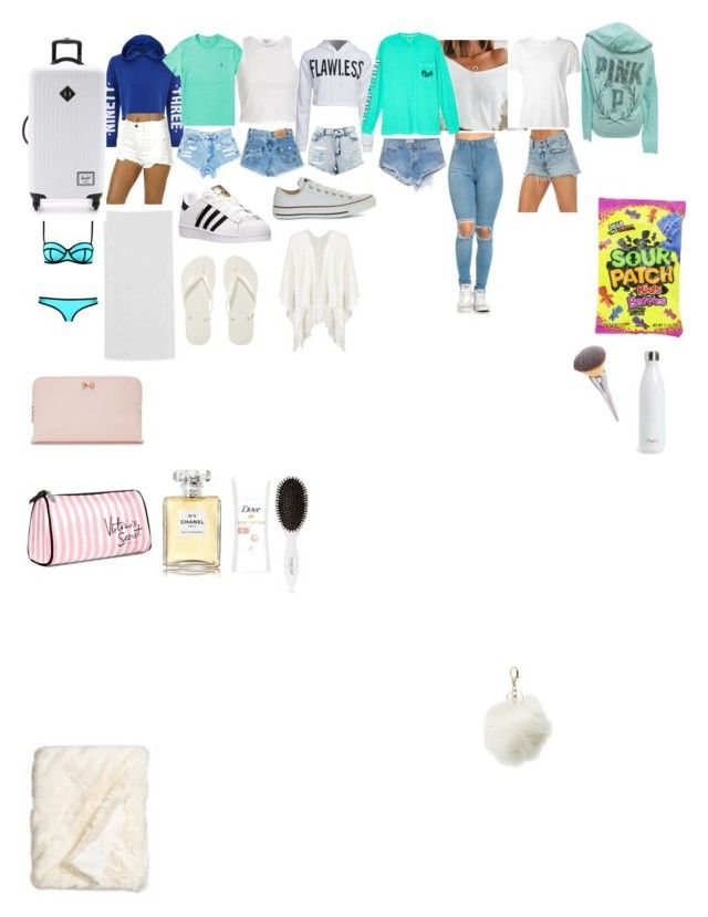 """What to pack in the summer on a road trip or plane to go to the beach or where ever you are going"" by darkroadthecreator on Polyvore featuring New Look, WithChic, Victoria's Secret, River Island, Boohoo, OneTeaspoon, Billabong, Havaianas, Converse and adidas"