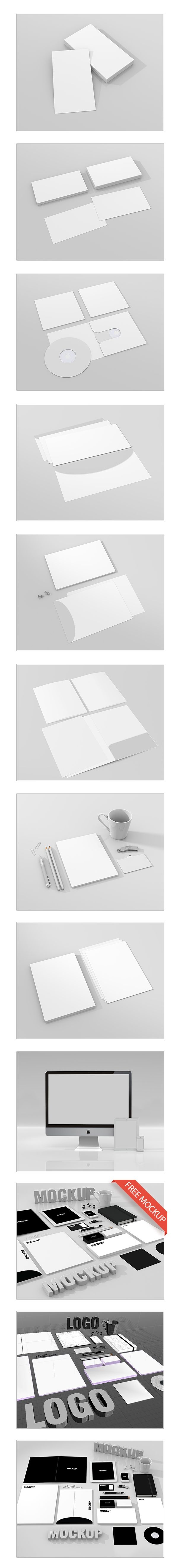 3D - MOCKUP by Taina Meneguesso, via Behance