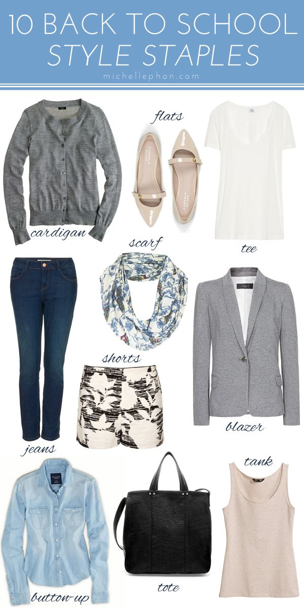 10 Style Staples For Back To School Pinterest