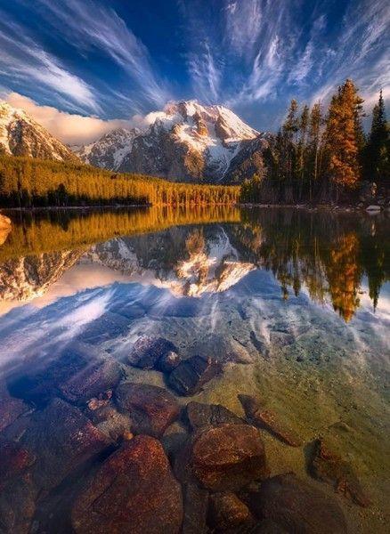 Les plus beaux lacs du monde - Leigh Lake - Wyoming - USA