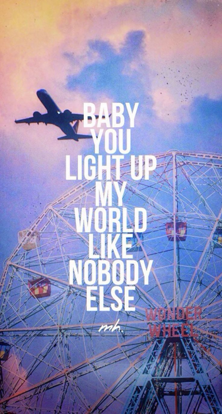 Baby You Light Up My World Like Nobody Else iPhone 6 Plus HD Wallpaper