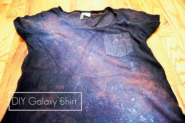 DIY Galaxy Shirt by Stacie Stacie Stacie, via Flickr
