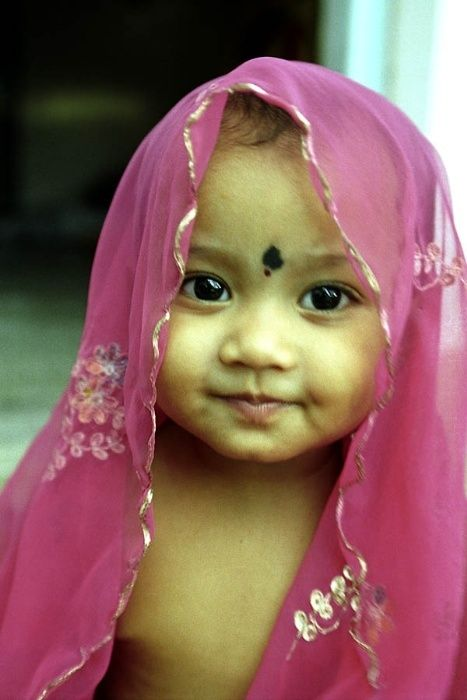 to have a beautiful  baby when I'm ready if ever:) ... and to teach him or in this case(pic) her indian culture as well as the love of God.
