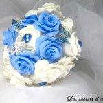 lessecretsdalena Bouquet éternel La mariée bleue