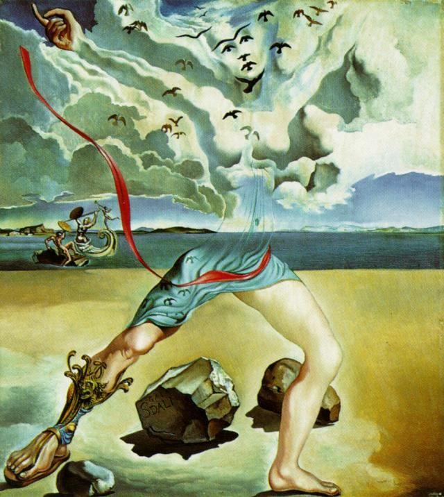 Salvador Dali >> Peinture murale pour Helena Rubinstein (panneau 1), 1942  |  (huile, reproduction, copie, tableau, oeuvre, peinture).