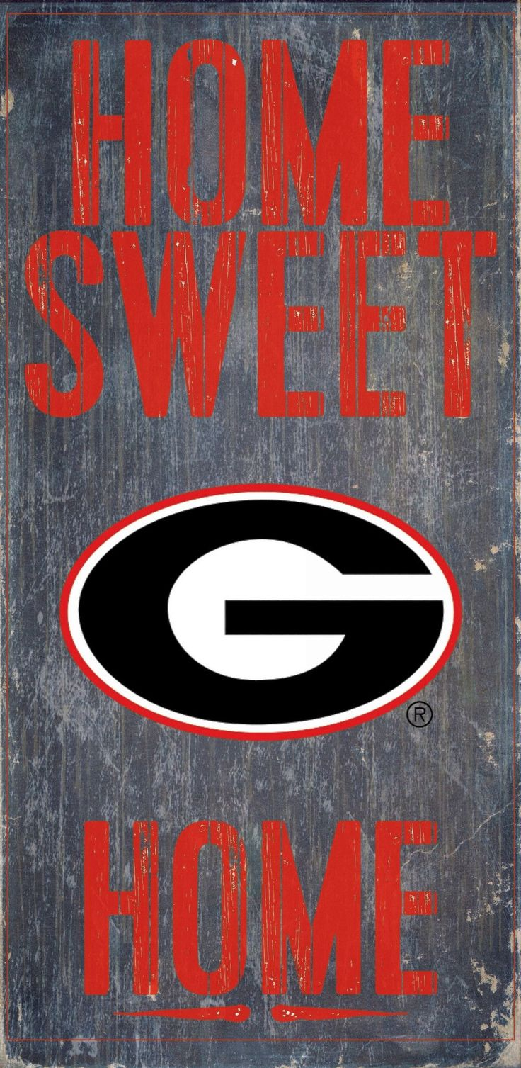 """Is your home a Georgia Football Home? Then you need this sign. This Georgia sign is perfect for displaying around the home. It includes a piece of rope attached to the back for hanging. The sign is 6"""""""