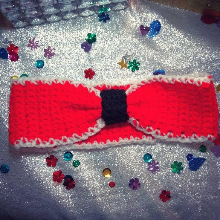 Crocheted headband...coming soon to The Weasel's Whiskers. #theweaselswhiskers #comingsoon #wool #yarn #headband #head #headwear #headgear #accessories #clothing #crochet #crocheted #red #whitetrim #adult #crochetedhat #hat #etsy #etsyshop #handmade
