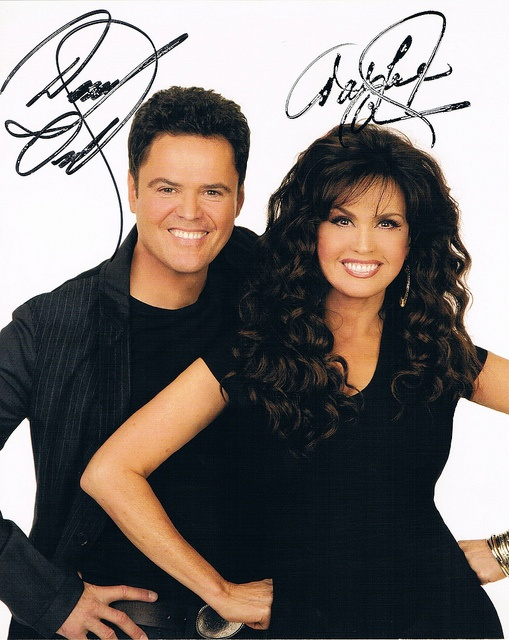 "Donny Osmond  - (b. December 9, 1957)  - Singer  - Former Teen Idol  - Actor/Television Personality  - ""Dancing With the Stars"" Champion    Marie Osmond  - (b. October 13, 1959)  - Singer  - Actress/Television Personality  - Doll Designer     Really really love Donny Osmond"