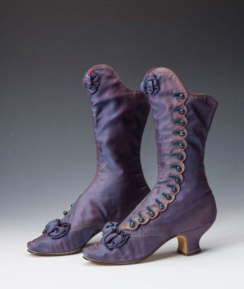 A pair of beautiful boots which once belonged to Empress Maria Feodorovna of Russia, 1880