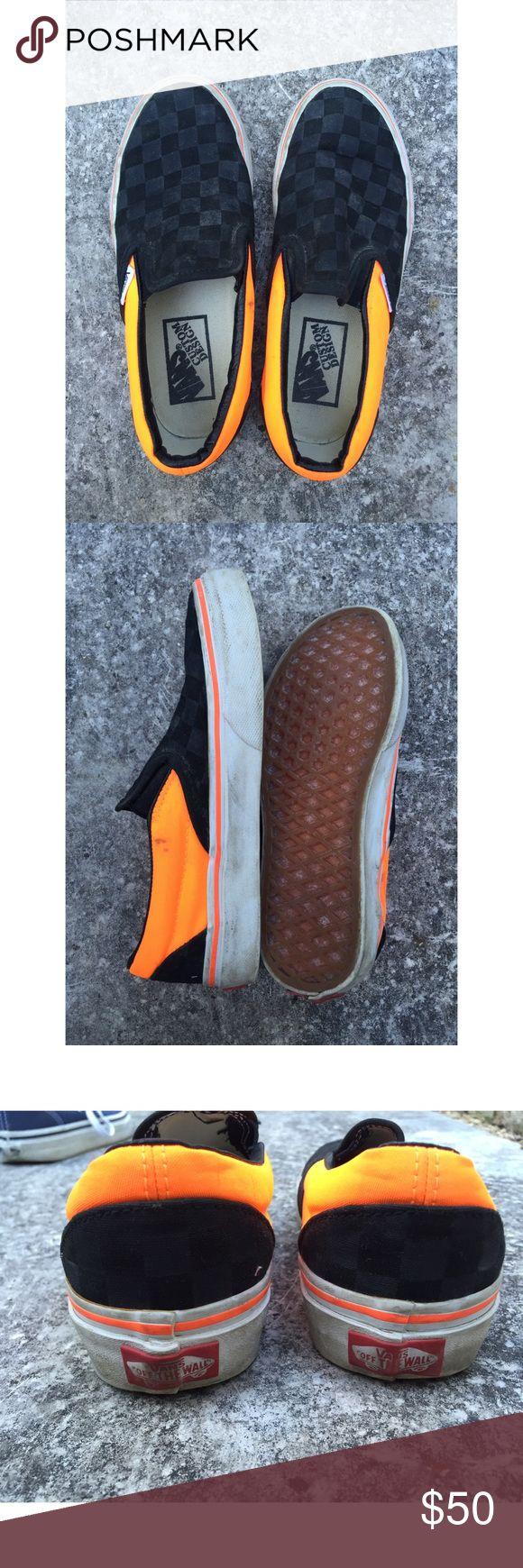 Painted Old Skool Black Vans Shoe Au