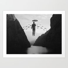 Art Print featuring Journey To The Unknown by Enkel Dika