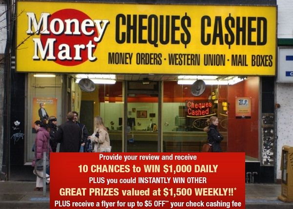 Grab 10 chances to win $1000 cash daily or $1500 weekly just by sharing your feedback in Money Mart Customer Experience Survey.  #Survey #Sweepstakes #Wincash
