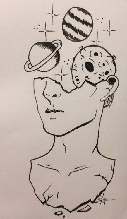 drawings drawing boy lapiz dibujos alien easy cool pencil womensbest ru guardado desde
