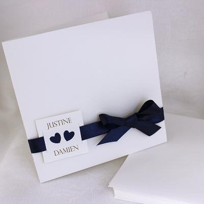 Faire-part mariage tandem 49416B  selection elegance et raffinement