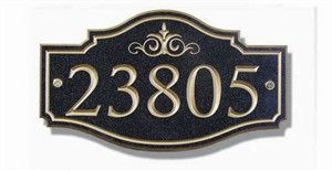 Victorian House Number Wall Plaque
