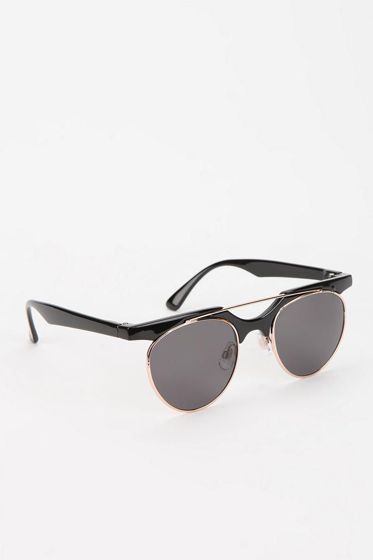 High Brow Round Sunglasses #urbanoutfitters
