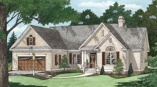 The Foxcroft Plan 1144 With A Low Maintenance Exterior