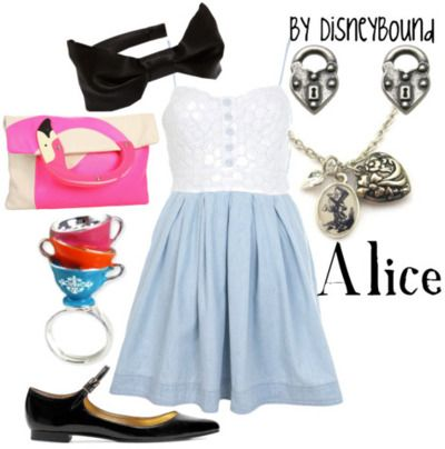.Alice In Wonderland, Movie Character, Disney Outfit, Inspiration Outfit, Disney Inspiration, Disney Bound, Disneybound, Costumes Ideas, Disney Character