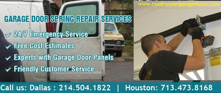 24 Hour- Broken Spring Repair starting at $26.95 in Houston, TX  #garagedoorrepair  #springrepair
