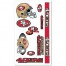 San Fransisco 49er's Temporary Tattoos | #SF #SanFrancisco #49ers #SanFrancisco49ers #Memorabilia #Sports #Merchandise #Football #NFL | Order Today At www.sportsnutemporium For Only $1.95
