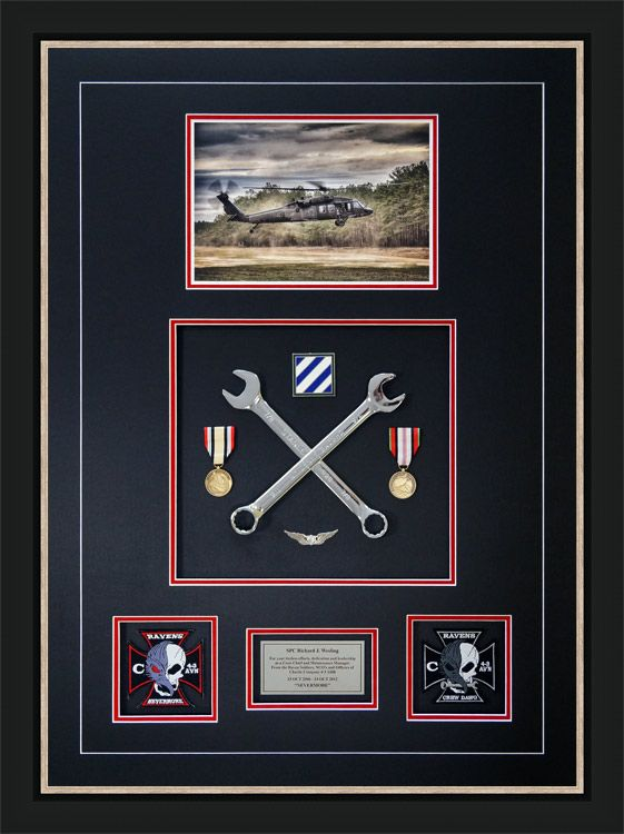 Gallery - Custom Framed Military Medals and Ribbons - Framed Guidons