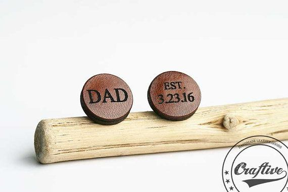 New Dad Gift  New Daddy  New Daddy Gift  Dad by CraftiveLeather