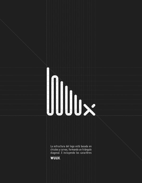Wuux Identity by Jorge Letona, via Behance