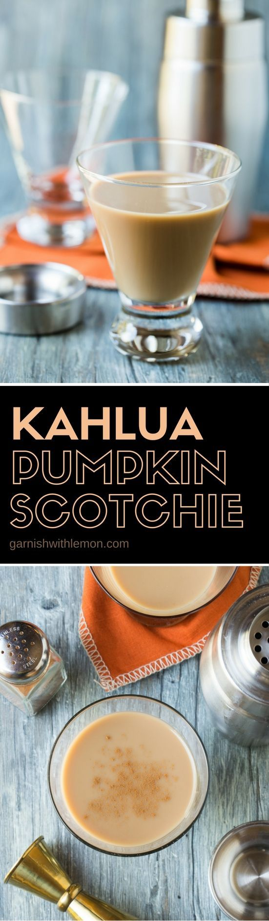 Need a new fall cocktail recipe? Try these irresistible Kahlúa Pumpkin Scotchies…