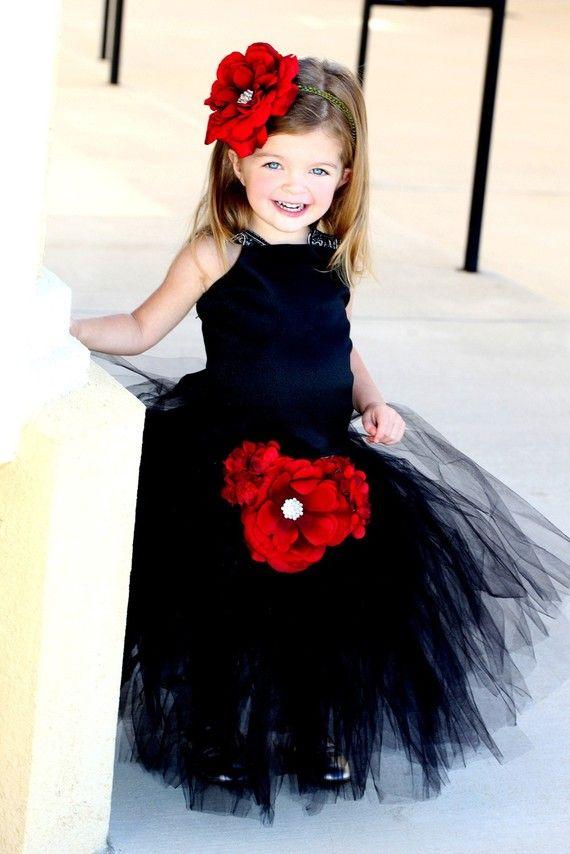 Black Tutu Flower Girl Dress