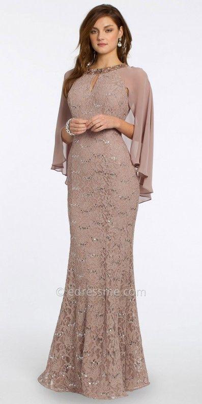 Cool idea with the Cape! Camille La Vie Sequin Lace Cape Evening Dress 0efa71518f31