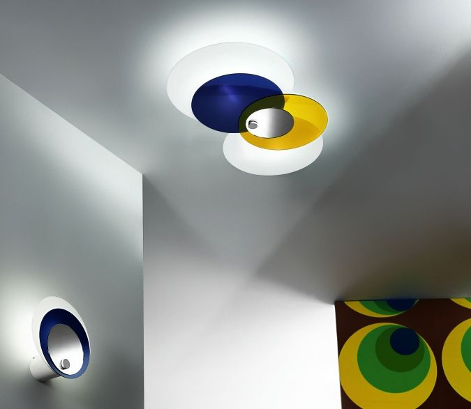 Contemporary kids ceiling lights also entertain... HULA HOOP