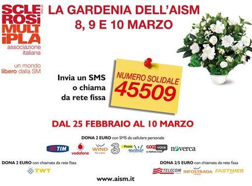 Torna in occasione della festa della donna la Gardenia dell' @AISM - Associazione Italiana Sclerosi Multipla. Insieme per vincere la sclerosi multipla