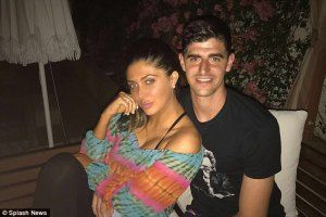 Chelsea Goal Keeper Thibaut Courtois Spotted Kissing Kim Ks Best Friend Brittny Gastineau. (Photos)