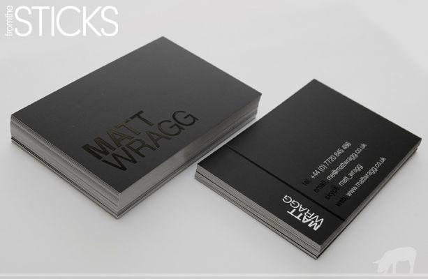Fromthesticks Blog Matte Black For Matt Wragg Spot Gloss Business Cards Uncoated Business Cards Business Card Mock Up